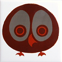 Owl tile - special